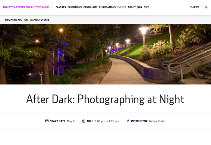 Houston Center for Photography Website